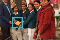 Book Contribution Campaign at Ahlcon International School