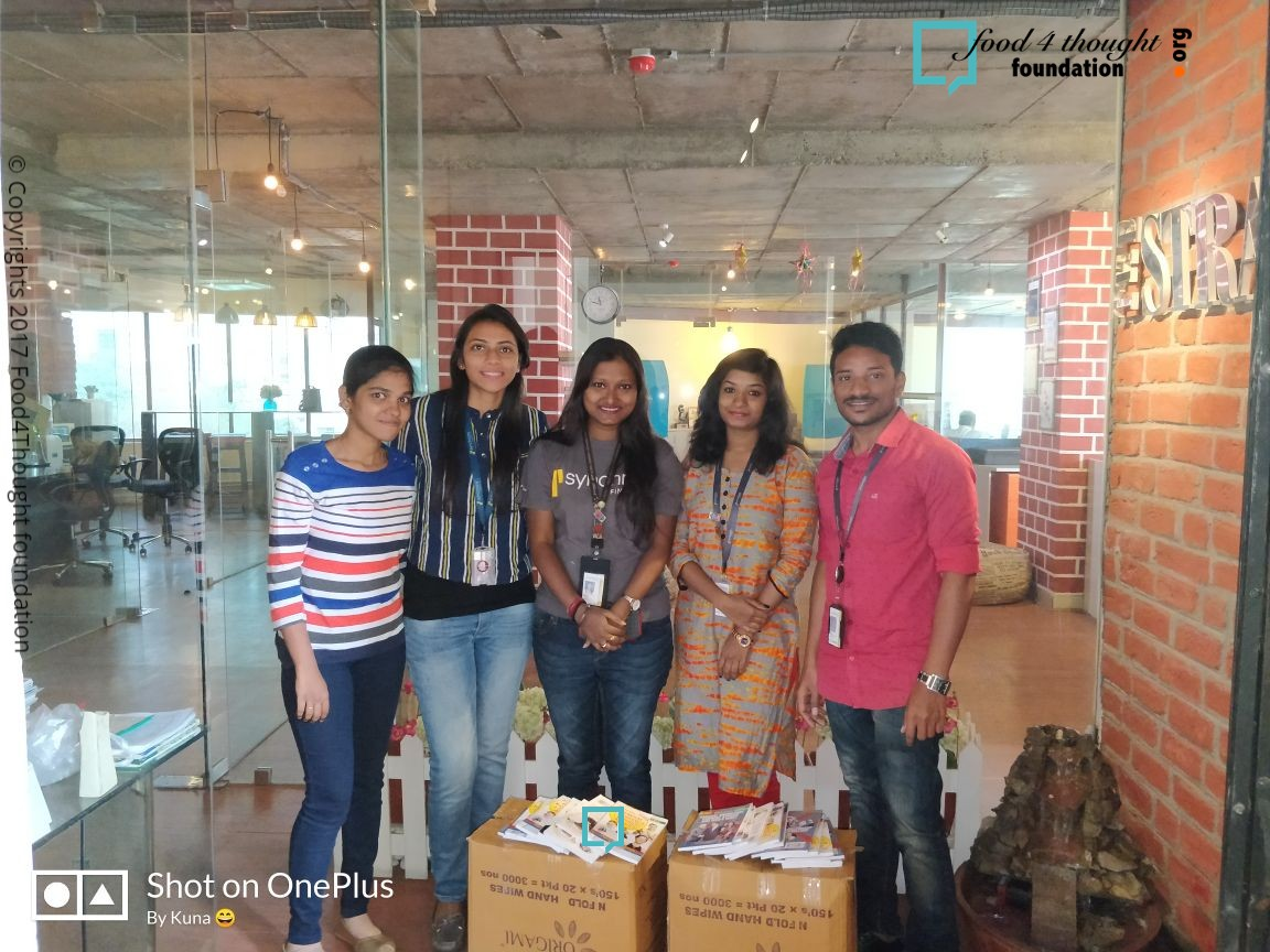 BOOK DONATION CAMPAIGN BY SYNCHRONY FINANCIAL VOLUNTEERS dt 12th Feb