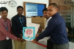 Save Books & Build Library campaign at Cyient Ltd