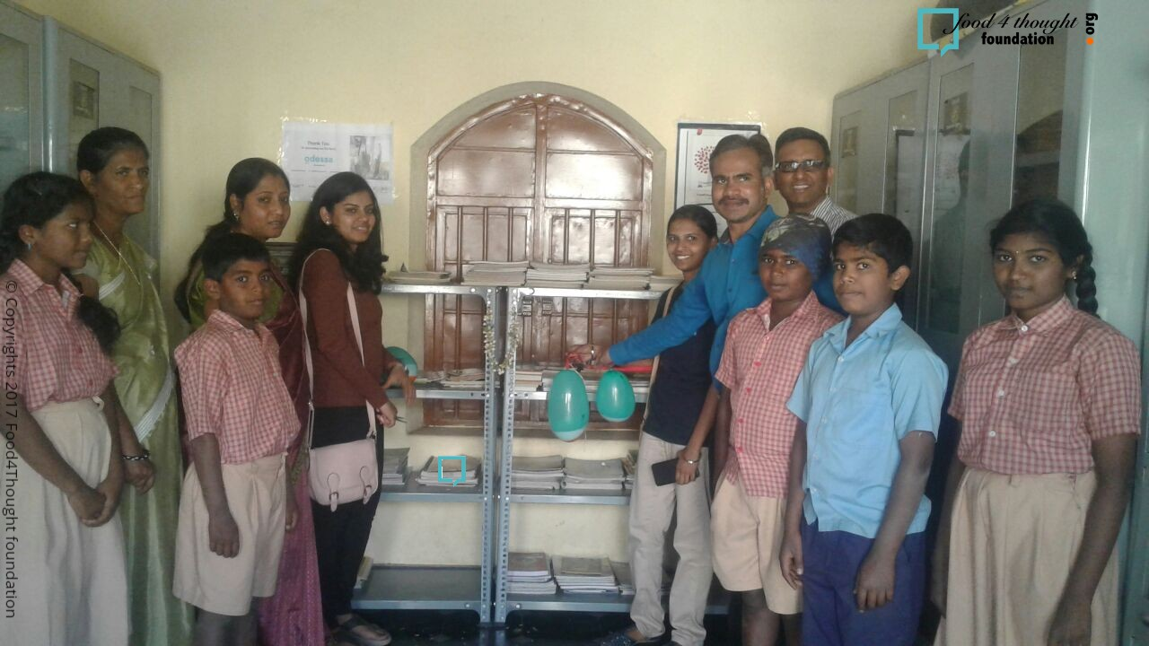 Library opening Govt Model Boys School Bangalore dt 22nd Feb 2018