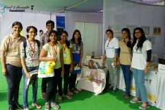 Food 4 Thought Foundation stall at Hyderabad Literary Festival 2017