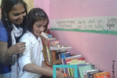 Community Library at Prithak NGO- 16th April 2016
