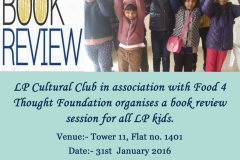 Joy of Reading session- 31st January 2016