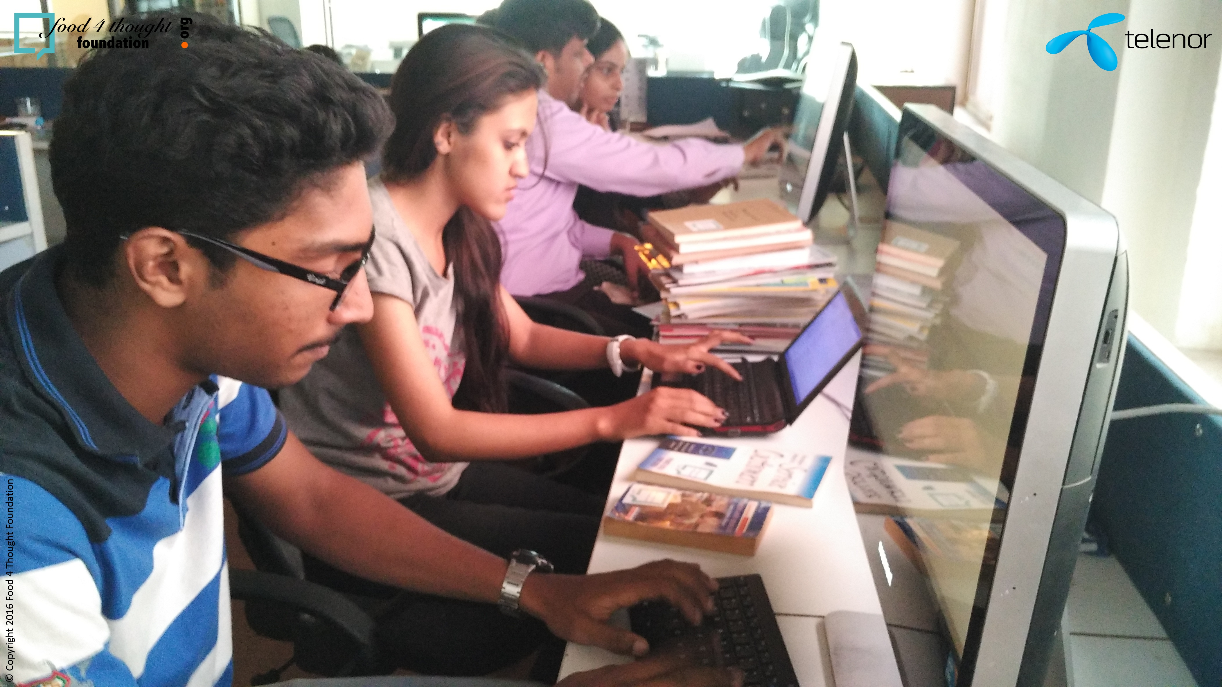 8 Interns for segregation and allocation of books on TRACKER