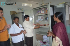 Library inauguration at ZPHS Veladi Kotapalem on 8th July 2016